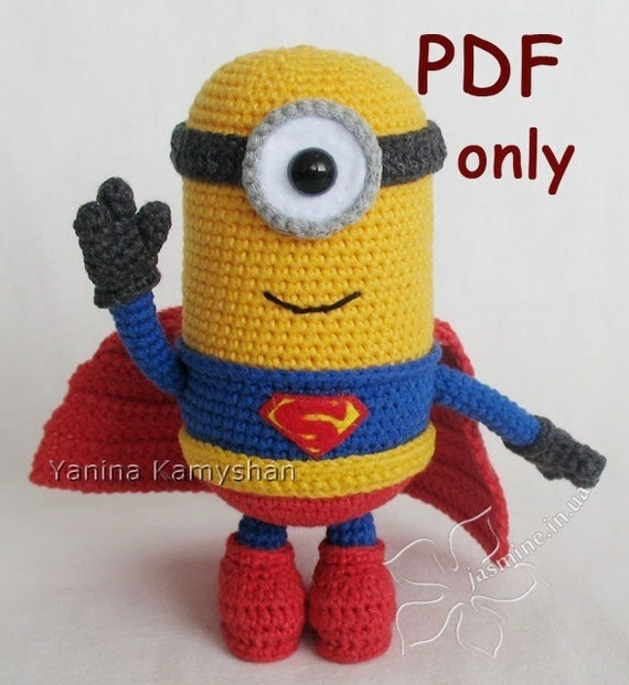 Free Amigurumi Superhero Patterns : Mighty Hero crochet toy amigurumi PDF pattern by jasminetoys
