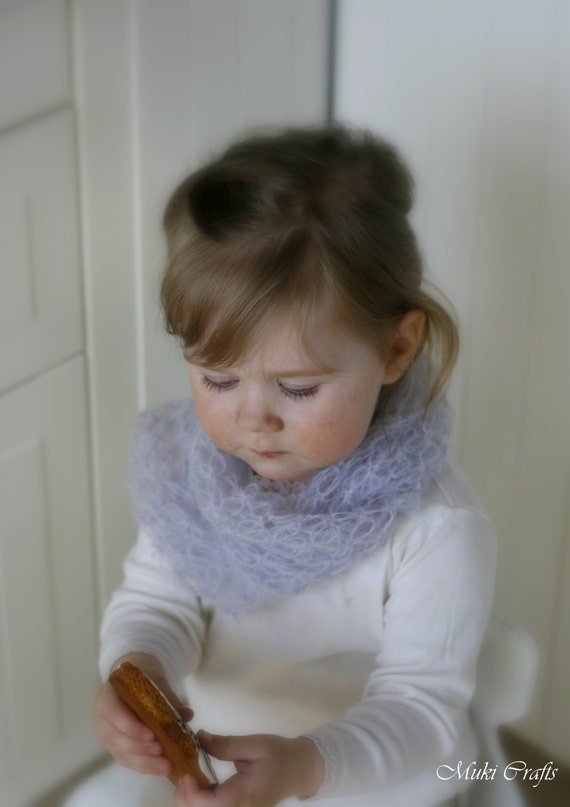 CROCHET PATTERN infinity scarf Evelyn in double layer and lace (toddler/child/woman sizes)