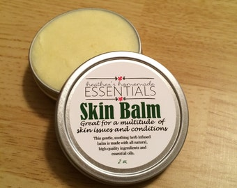 Herb Infused Skin Balm with Essential Oils (Infused with: Lavender, Calendula, Chamomile, & Plaintain)