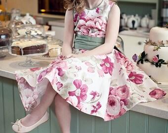 Tilly Flower girl dress - Cotton Floral