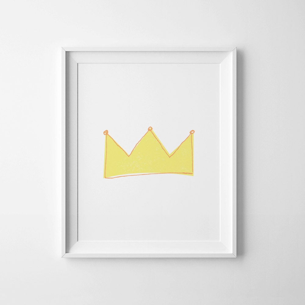 Minimalist poster nursery decor printable wall art yellow for Minimalist wall painting