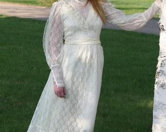 Long Gunne Sax Lace Dress/Jessica Gunne Sax dress