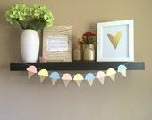Ice Cream Garland // Pastel Rainbow // Glitter Garland // Birthday Party Decor // Shower Garland
