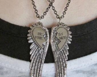 Best Friend Angel Wing Necklaces