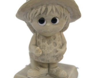 Russ Berrie And Co. 1970 Unbreakable I Love You More Than Fridays Made in USA Wallace Berrie And Co. Figurine Statue