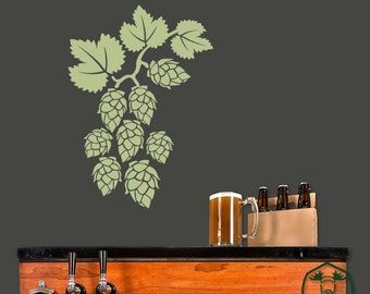 Hops Vine Wall Decor Decal