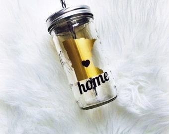 State Mason Jar Tumbler - Mason Jar Tumbler - Tumbler - Country Tumbler - Mason Jar - Personalized Jar - State Love