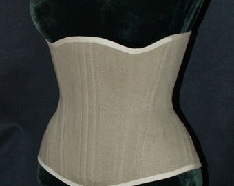 Earth Tone Underbust Training Corset Smooth Front