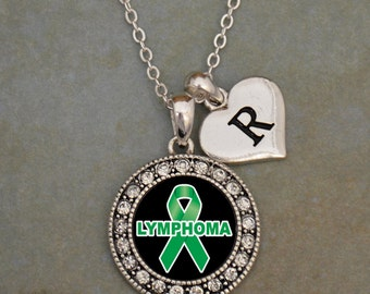 Custom Initial Lymphoma Awareness Necklace