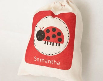 Ladybug Favor Bags, Ladybug Party Favor Bags, Ladybug Favor Bag - Personalized Ladybug Favor Bags, Ladybug Party Bags, Ladybuy Party,