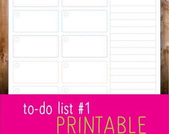 to do list #1