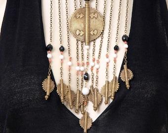 Ethno statement necklace