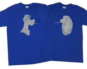 Disney Lady and the Tramp Couples Bleached T-shirts