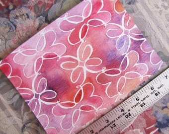 """Pattern Charlotte in Pink & Purple (5""""x7"""" Watercolor Painting)"""