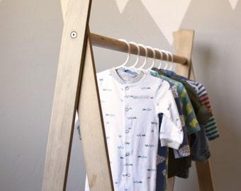 Clothing Rack, Children's Clothing Rack, Wood Clothing Rack, Children's Closet, Kids Room, A-Frame Clothing Rack, Closet Storage