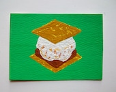"Have S'more #83 (ARTIST TRADING CARDS) 2.5"" x 3.5"" by Mike Kraus Free Shipping"