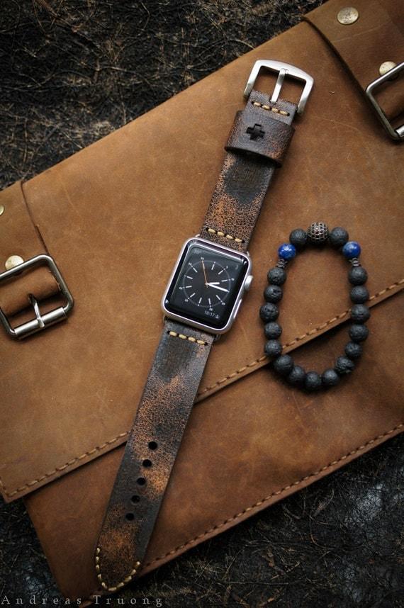 Sale handmade vintage leather strap by blackforestatelier for Vintage sites like etsy