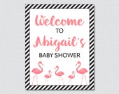 Flamingo Baby Shower Welc...