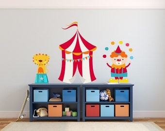 Circus Wall Decals, Wall Stickers, Wall Decals Nursery, Kids Wall Decals, Nursery Wall Decal, Non Toxic, Baby Wall Decal, REMOVABLE REUSABLE