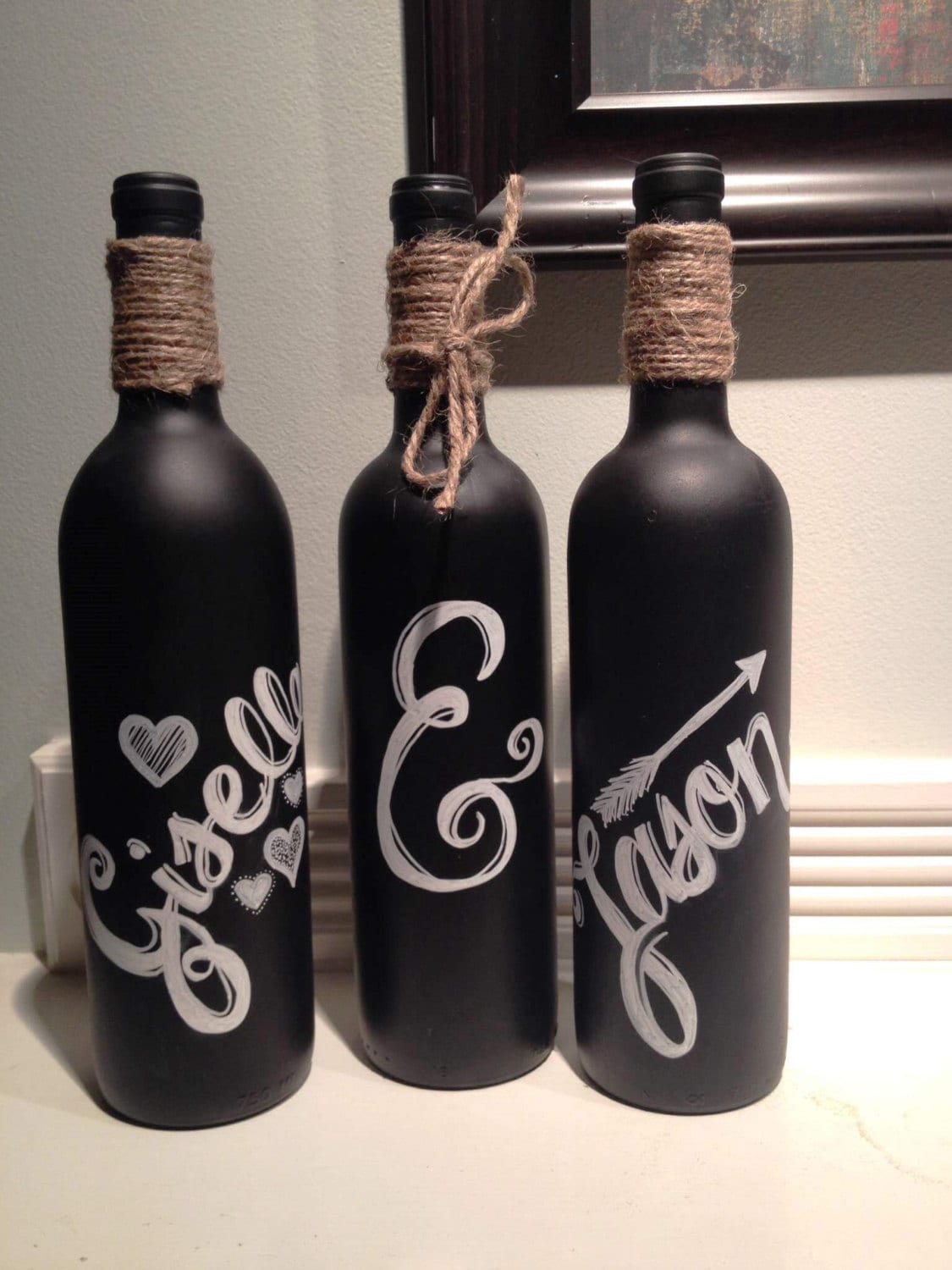 personalized chalkboard wine bottles