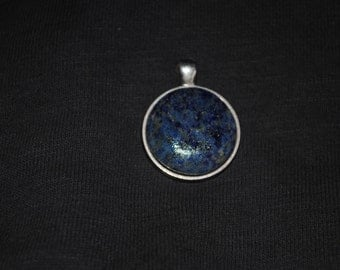 Denim Lapis Pendant