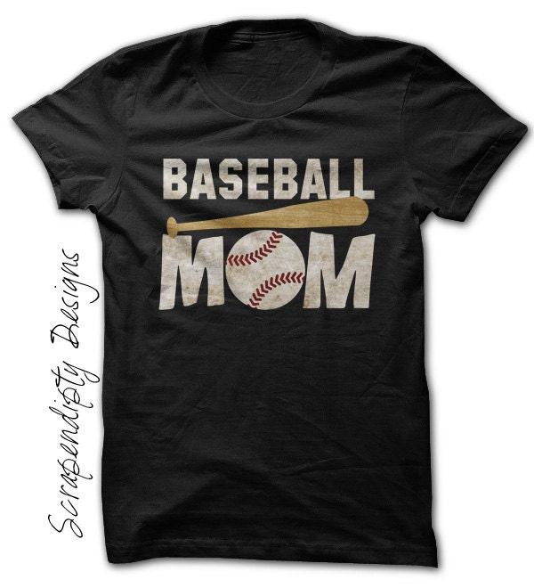 Baseball mom shirt custom baseball shirt womens customized for Custom baseball tee shirts