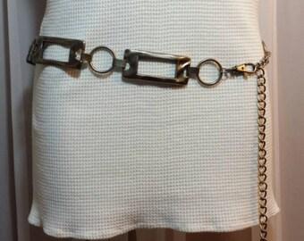 Vintage Chain Belt Silver metal chain belt mod