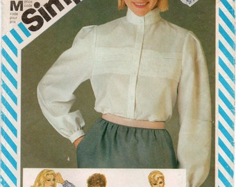 UNCUT Vintage sewing pattern Simplicity 6356 Misses' Tucked Blouse Bust 87cm