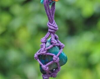 Chrysocolla Necklace Multi gemstone macrame necklace Macrame jewellery Bead necklace Earthy boho jewellery Long colourful necklace Bohemian