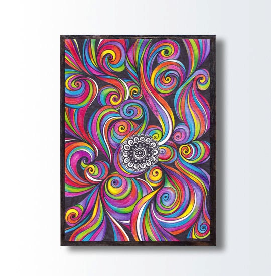 Arcobaleno colori disegno download istantaneo astratto - Arcobaleno a colori e stampa ...