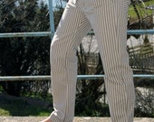 Mens striped organic cotten pants