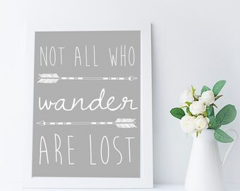printable lord of the rings wall art, not all who wander are lost Tolkien quote