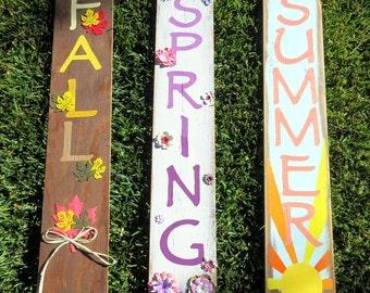 Seasons Wood Pallet Art, Fall, Spring, Summer, Home Decor