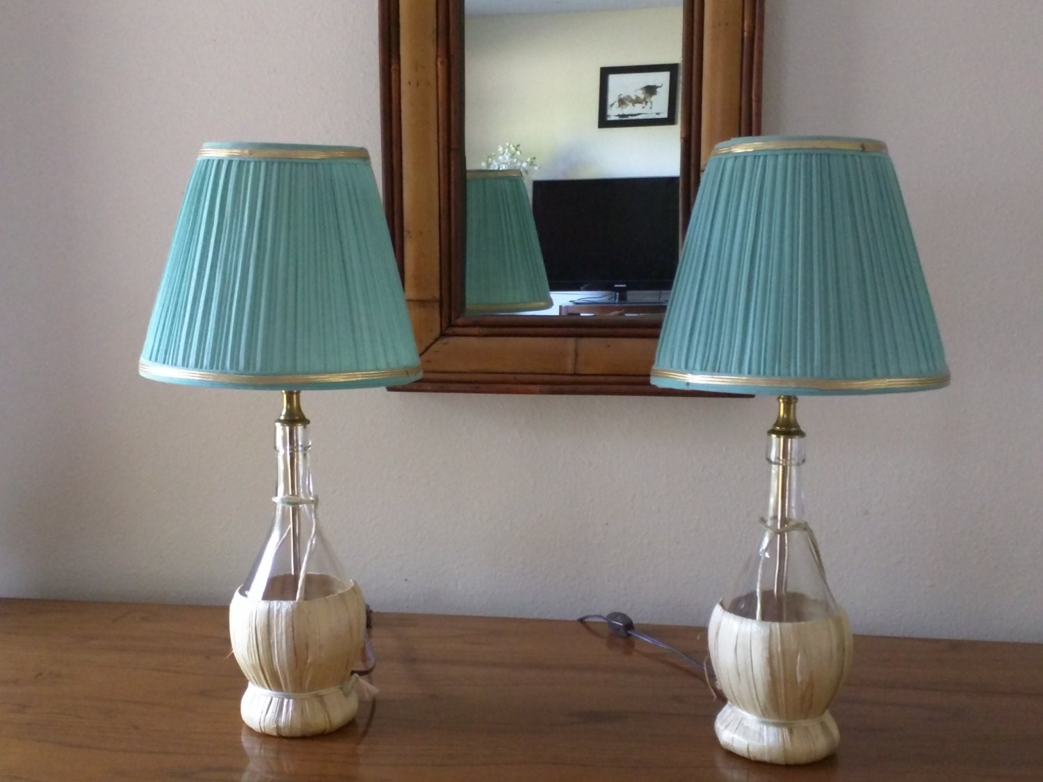 set of 2 table lamps bedside lamps bedroom by newlifestylecreation