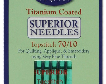 Superior Titanium-coated Topstitch Sewing Machine Needles