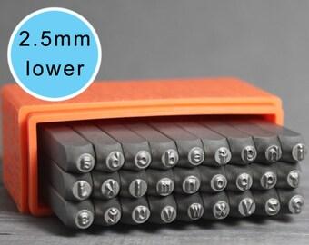ImpressArt 2.5mm Lowercase Basic, Lowercase Letters, Basic Letters, ImpressArt Stamps, Metal Stamps, Uppercase Stamps, Metal Stamps, INV1026