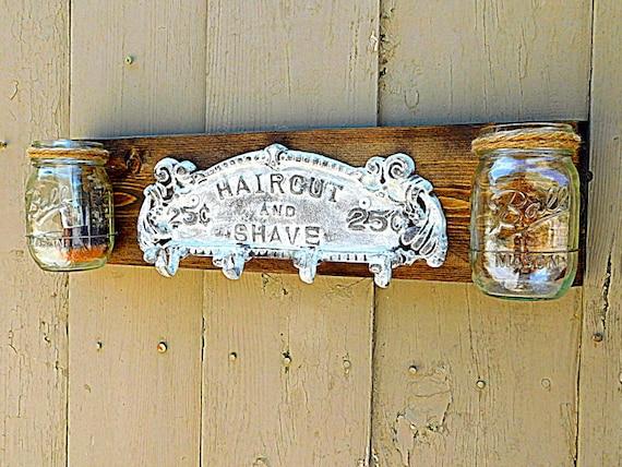 Mason Jar Wall Decor Wood Country Decor Rustic By TeddysRoom