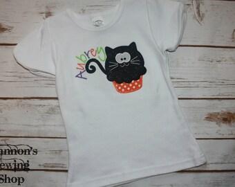 Halloween Kitty Cupcake Shirt
