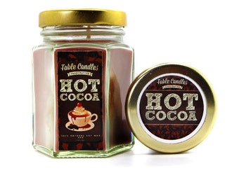 Hot Cocoa Scented Soy Candle | Handmade Scented Candle -- 4oz