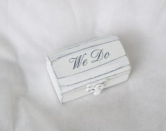 Double Ring Box Wedding Ring Box Personalized Rings Box Ring Bearer Box Proposal Ring Box Hearts Engagement Ring Box