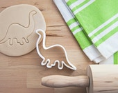 Brontosaurus Dinosaur Cookie Cutter With Built-In Handle Design (3D printed cookie cutter)