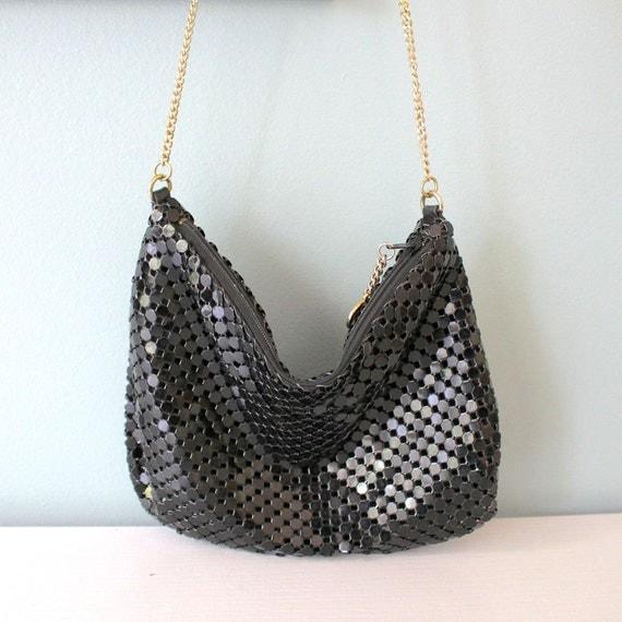 vintage purse la regale mesh purse metal mesh by annatastyle. Black Bedroom Furniture Sets. Home Design Ideas