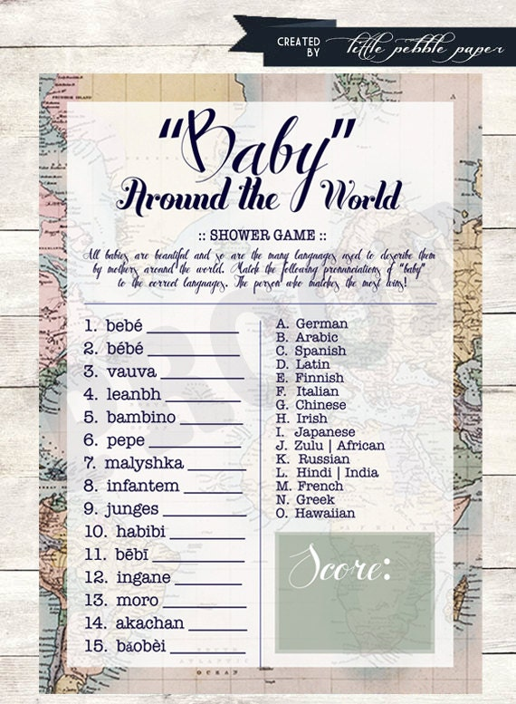 Welcome to the World Baby Shower Game Printable Baby Girl