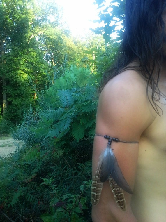 Real Feather Armband Boho Bohemian Armband Mens Apper