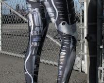 TAFI Machine Leggings - Steampunk Mechanical/Robot Cyborg Costume Yoga Pants 2015 Black Milk Galaxy CosPlay Print