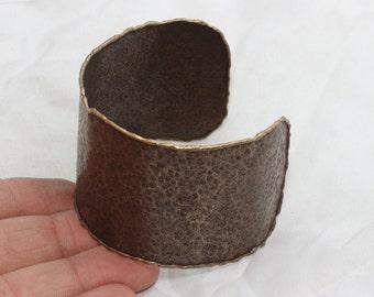 Handmade Antique Bronze Cuff Bracelet Bangle  Width 48 mm Bronze Cuff Bracelet Blank , Bronze cuff , CF52