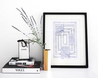 Scandinavian print, Marble Print,  Abstract Art, Modern wall art,  A3 Print,  Geometric Poster, Contemporary Art