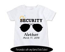 Wedding Ring Shirt, Ring Security Shirt, Ring Bearer Shirt, Personalized Kids Wedding Gift Ring Security Gift, Wedding Favors ...(EX 368)