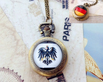 APH , Hetalia , Axis Powers , National flag pocket watch includes two kinds of removable chain