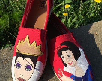 Snow White and the Evil Queen shoes